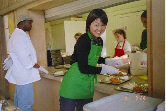 Soup kitchen volunteer